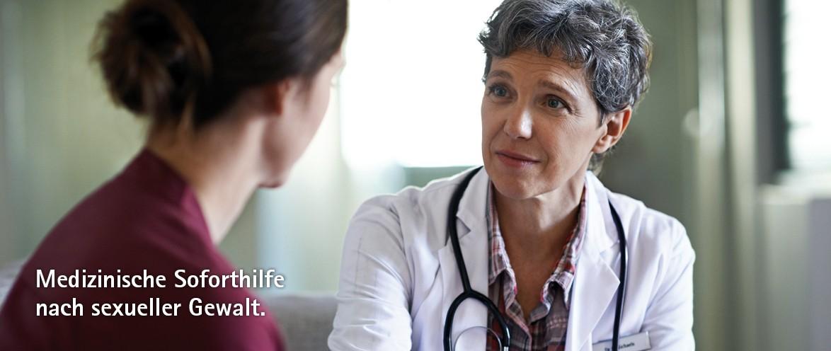 Medizinische Soforthilfe nach sexueller Gewalt.